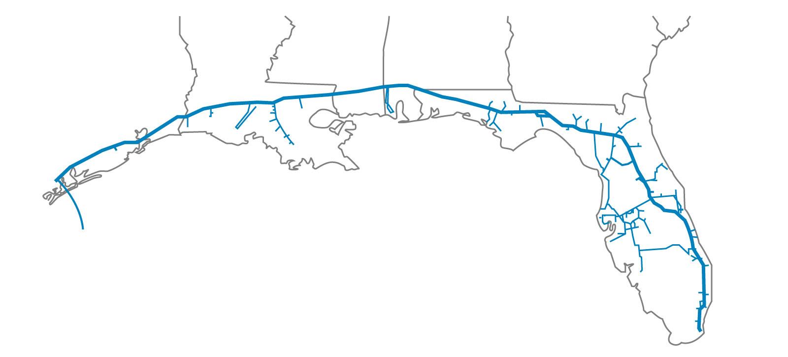 Florida Gas Transmission Map